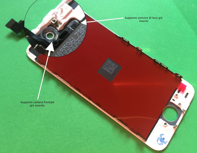 apple iphone 5s lcd- schermo lcd- glass retro